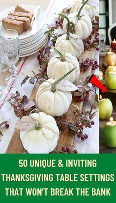 #unique #inviting #Thanksgiving #table #settings #break #bank