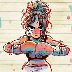 Pin by Karii Bacab in cartoon t Wallpapers - Diseño - Art Drawings Sketches, Cartoon Drawings, Cute Drawings, Cartoon Kunst, Cartoon Art, Sports Drawings, Boxing Girl, Wow Art, Sports Art
