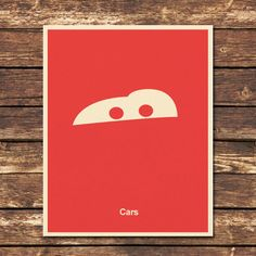 Cars - 8x10 Print. $8.00 PosterInspired (for J's side of room)