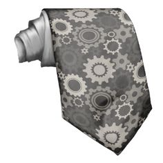 Sprockets pattern business tie. #mechanics #sprockets #engineer #steampunk #sprocket #pattern #sprocket #pattern #necktie #sprocket necktie