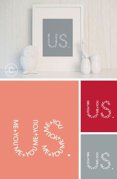 You+Me=Us Print « super cheap!!! def going in our bedroom