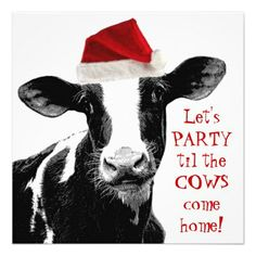 Shop Santa Cow -Holstein Dairy Christmas Cow Jigsaw Puzzle created by CountryCorner. Christmas Animals, Christmas Quotes, Christmas Humor, Christmas Pictures, Iphone 6 Cases Funny, Phone Cases, Holiday Fun, Holiday Cards, Christmas Cards
