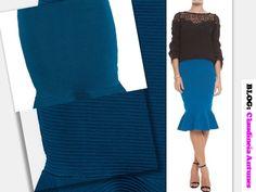 80 Modelos de Saias Feminina que Esta na Moda 2015 saia sino bandagem azul