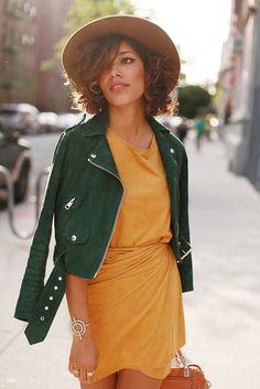 emerald leather jacket