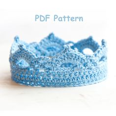 Crochet Baby Crown Pattern promo Crochet Pattern - Princess or Prince Crochet Crown Newborn Pattern - Photography Prop Pattern. Crochet Baby Hats, Crochet For Kids, Baby Blanket Crochet, Diy Crochet, Crochet Crafts, Crochet Projects, Crochet Headbands, Newborn Crochet, Baby Knitting