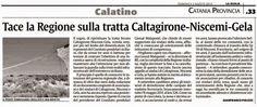 Tace la Regione sulla tratta Caltagirone-Niscemi-Gela   Comitato Pendolari Siciliani