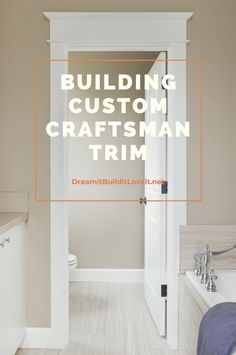 Updating your trim is one of the fastest and easiest ways to add style and value to your home. No really- it honestly is pretty darn easy. Don't just believe me, check out this tutorial for simple but beautiful DIY door and window trim. Window Molding Trim, Door Frame Molding, Craftsman Window Trim, Craftsman Style Doors, Craftsman Interior, Moldings And Trim, Door Frames, Crown Molding, Moulding
