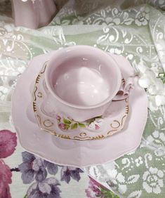 Items similar to Teatime set Vintage Pink Tea Cup with Soucer and Dessert Plate Jarmila H&C Czech Republic Porcelain Rosa Chodov Coffee Mug Pink Porcelain on Etsy Vintage Tea, Vintage Ceramic, Vintage Pink, Porcelain Mugs, Ceramic Mugs, Pink Tea Cups, Wedding China, Teapots And Cups, Tea Time