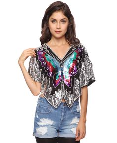 Butterfly Sequin Top | FOREVER21
