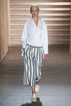 Culottes freshen up sans-culottes by widening the leg, but the style remains similar to the original. Need to overthrow a government? These comfy pants are a perfect blend of ease and confidence-boosting flair. // Tibi SS15 at NY Fashion Week