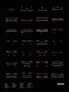 Auto Icon Screen Print Series: BMW Tail Lights – NOMO Design