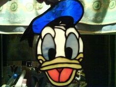 Stained glass Donald Duck