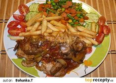 Bylo to moc dobré, brambůrky z remosky. Slovakian Food, Zeina, Kung Pao Chicken, Bon Appetit, Food And Drink, Cooking Recipes, Beef, Sweets, Ethnic Recipes