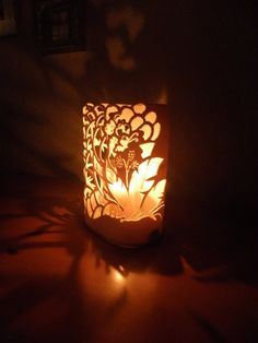 Oval candle holder. Handmade with recycled  PVC. by GlowingArt,  from Glowingart.etsy.com