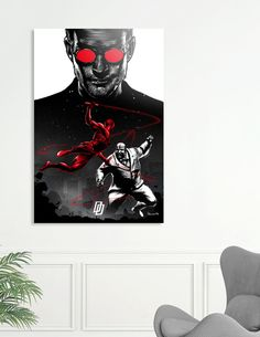 Discover «Daredevil vs Kingpin», Exclusive Edition Aluminum Print by Paola Morpheus - From 69€ - Curioos