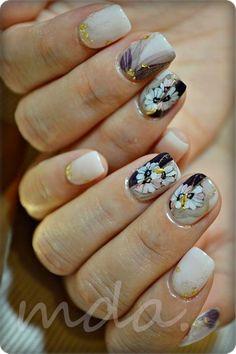 sticker paint / JPN flower. |銀座deネイル★M.D.A NAiLのブログ|Ameba (アメーバ)