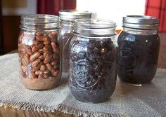 Avoid the BPA in canned beans by cooking and freezing dried beans in mason jars or freezer bags.