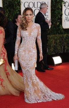 Jennifer Lopez white embroidery dress
