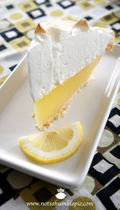 The best, no fail, lemon meringue pie. The meringue stays fluffy and does not pull away from the crust. The filling does not get runny, it stays perfectly together when you slice the pie :)