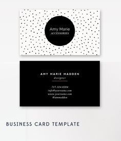Business Card Template - Photoshop Templates - Polka Dot