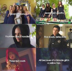 that blonde girl in the yellow top. Pretty Little Liars Meme, Pretty Little Lies, Pll Quotes, Pll Memes, Gossip Girl, Shadowhunters, Vampire Diaries, Spencer Hastings, How Lucky Am I
