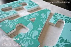 DIY Kitchen Decor – Wall Letters