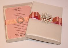 Exquisite Silk Boxed Wedding Invitation  Couture by BoxedWedding