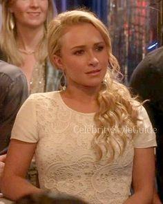Hayden Pannetiere in Rebecca Taylor Crochet-Lace Tee . Shop here http://www.celebritystyleguide.com/i-1-1-13430/celebrities/hayden-panettiere/rebecca-taylor-embroidered-lace-top