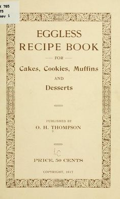 Eggless recipe book for cakes, cookies, muffins...