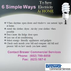 Save More On Electricity Around The Home.. Brewercommercialservices.com