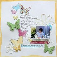 A Project by scrap2010 from our Scrapbooking Gallerylike the painted butterflies and cut out title
