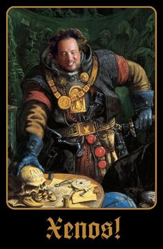 Artwork of an inquisitor Gruendvald from the warhammer universe done by Dave Gallagher. Warhammer 40k Memes, Warhammer 40k Figures, Warhammer Art, Warhammer Fantasy, Warhammer 40000, Warhammer Models, Eternal Crusade, Filthy Memes, Imperial Fist