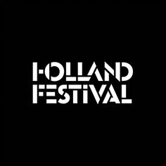 Holland Festival by Thonik. (2014) #logotype #typography #branding