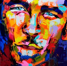 French painter Françoise Nielly uses a palette knife to create highly stylized portraits that pop with color. The artist, who we featured last year, has already produced a number of new paintings in 2013 that highlight her exuberant aesthetic and technique. The textured works juxtapose contrasting yet complementing colors to create artistic renditions of deeply expressive faces that tend to sway toward the sensual.