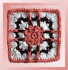 Checks and Balances Square  ~ free pattern ᛡ