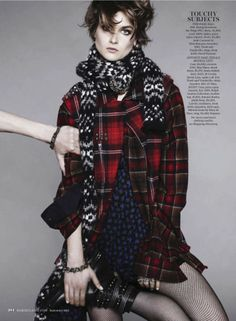'Clash of the Tartans' by Jan Welters for US Marie Claire September 2013