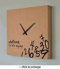 I want to make this from corkboard and acrylic paint.  too cute.