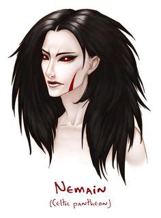 Godlings Faces - Nemain by TheArtfulMegalodon.deviantart.com on @DeviantArt