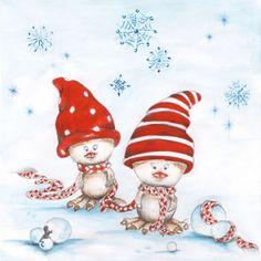 3042 Servilleta decorada Navidad