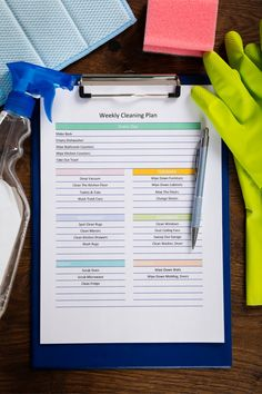 So you'd like your home to be white glove clean, but you want it to be as easily said as it is done. Well, we can't make it quite that easy, but we can share our cleaning tips for lazy people. Put together a cleaning schedule to help keep you on track. Weekly Cleaning Plan, Cleaning Day, Cleaning Checklist, House Cleaning Tips, Spring Cleaning, Cleaning Hacks, Cleaning Schedules, Deep Cleaning, Cleaning Lists