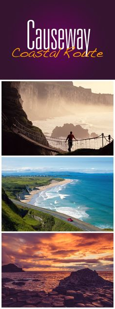 Condé Nast Traveler calls it one of the best coastal drives in the world. Taking in the rugged County Antrim coast, the breathtaking Carrick-a-Rede Rope Bridge, and the UNESCO World Heritage site of the Giant's Causeway, we can certainly see why… Visit Northern Ireland, Rope Bridge, Senior Trip, Future Travel, Ireland Travel, Travel And Leisure, Countries Of The World, Heritage Site, Oh The Places You'll Go