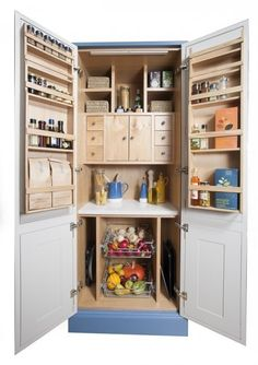 The Return Of Larder Cupboards I love larders this one is so perfect...  Maybe one on the big back deck would be something to consider... Handy in summer and extra freezer room in our sub zero winters.. lol