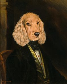 peintre portraitiste animalier portait de chien portrait de chat animal habill d apr s. Black Bedroom Furniture Sets. Home Design Ideas