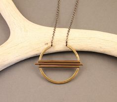 Equinox Brass Circle Necklace $54 Crow Jane Jewelry - Etsy - The Shop Gal
