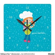* Sold this #baking #bake #wallclock to NY.  Thanks for you who purchased this. Check more at www.zazzle.com/celebrationideas/baking
