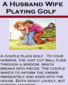 A Husband Wife Playing Golf-Funny Story  funny  humor  husbandwifejokes 517b02bf7235