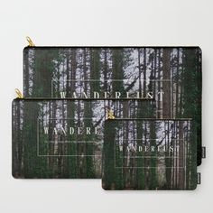 Buy Wanderlust Carry-All Pouch by ARTbyJWP. Worldwide shipping available at Society6.com. Just one of millions of high quality product