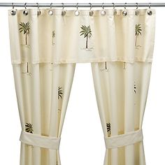 croscill port of call double swag shower curtain set