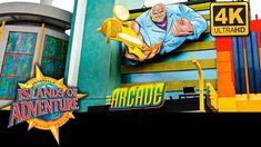 Theme Park Arcades: Islands of Adventure at Universal Orlando Resort in 4K Universal Orlando, Universal Studios, Florida Theme Parks, Island Theme, Orlando Resorts, Arcade, Islands, Marvel, Adventure