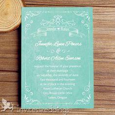 Wedding Invitations Online Cheap Aqua Watercolor Wedding Invitations IWI332 -